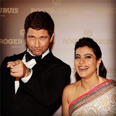 actress kajal real husband spotted kajol meets gerard butler in dubai