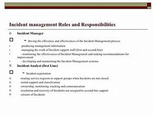 itil incident management With incident management document