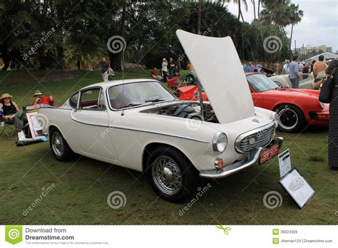 Vintage Volvo Sports Car Hood Open Editorial Stock Image
