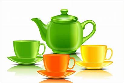 Teapot Teacup Vector Tea Clipart Pot Colored