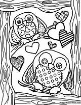 Owl Coloring Pages Adults Adult Owls Colouring Sheets Girly Template Flickr sketch template