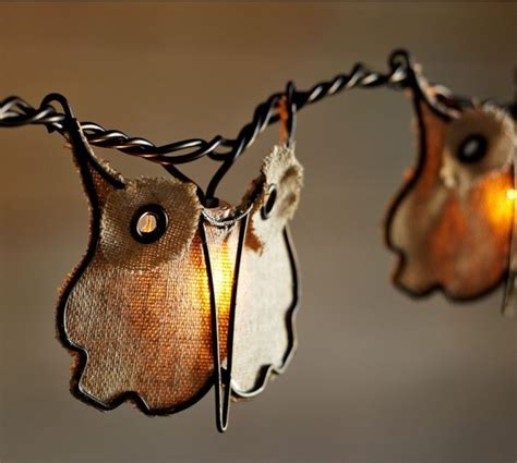 owl string lights burlap owl string lights contemporary outdoor rope and