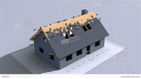 Home Construction. Time-lapse 3d Animation. Full Hd Stock