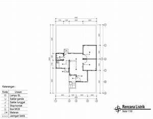 Contoh Gambar Kerja Lengkap Rumah Minimalis 1 Lantai
