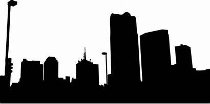 Silhouette Kota Clipart Urban York Vector Icons