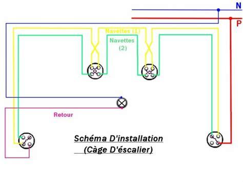 schema electrique cage escalier