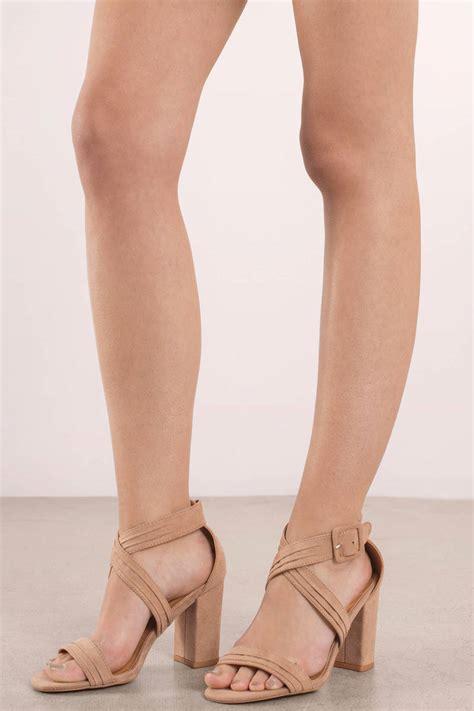taupe color heels beige heels comfortable heels beige criss cross heels