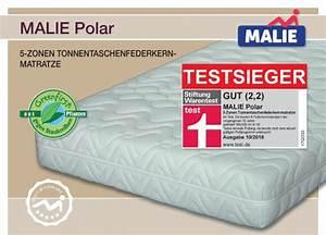 Malie Polar Matratze 140x200 : testsieger matratze malie polar der stiftung warentest beste matratze im test kategorie ~ Orissabook.com Haus und Dekorationen