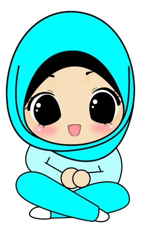 Cartoon quran muslim illustration, muslimah cartoon, png. Freebies Doodle Muslimah Duduk Bersila Cute | Kartun ...