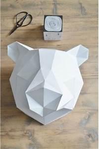 Trophée Animaux Origami : troph e mural faire sois m me kit origami caroline munoz ~ Teatrodelosmanantiales.com Idées de Décoration