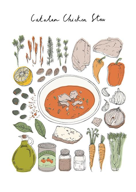 cuisine catalane esme lonsdale catalane chicken stew illustration food