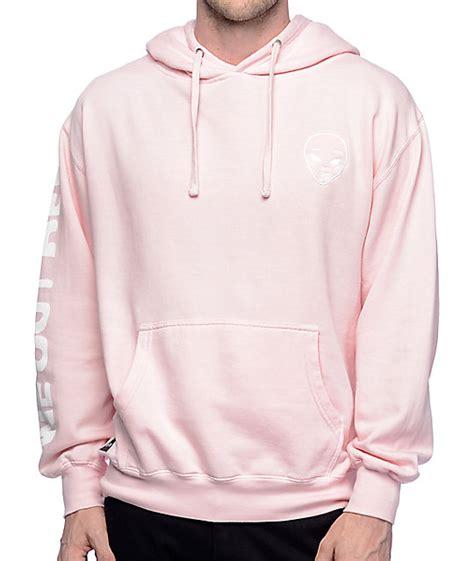 light pink sweatshirt ripndip get outer here light pink hoodie zumiez