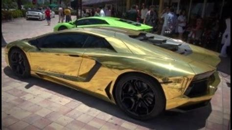 car lamborghini gold gold plated lamborghini roaring around s fla