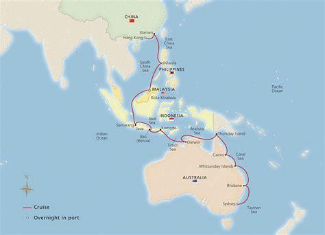 australia indonesia asia sydney  hong kong cruise