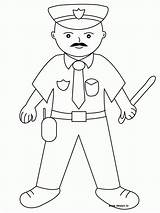 Coloring Police Officer Printable Popular sketch template