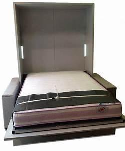 Lit Armoire Canapé : armoire lit escamotable lyon canape integre ~ Teatrodelosmanantiales.com Idées de Décoration