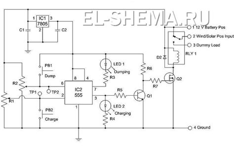 Паспорт изделия . 1. Электрическое соединение для полностью автономного энергоснабжения. Блоксхема.