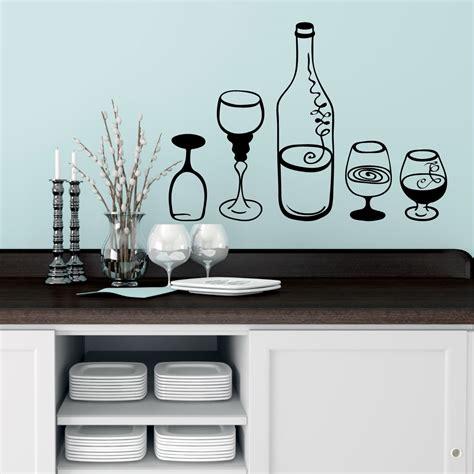 stickers pour la cuisine stickers muraux pour la cuisine sticker bouteille et des