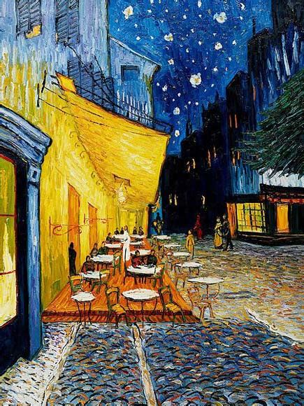 gogh cafe terrace at cafe terrace at by vincent gogh sharp