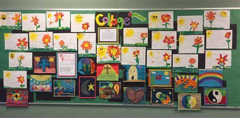 bulletin board displays art