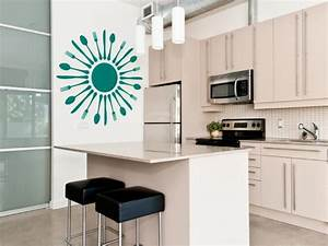 15 easy ways to add color to your kitchen hgtv for Kitchen colors with white cabinets with bronco stickers