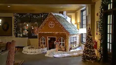giant gingerbread house towers   rest necn