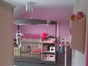 Deco Chambre Bebe Fille Gris Rose : deco chambre bebe fille gris rose ~ Teatrodelosmanantiales.com Idées de Décoration
