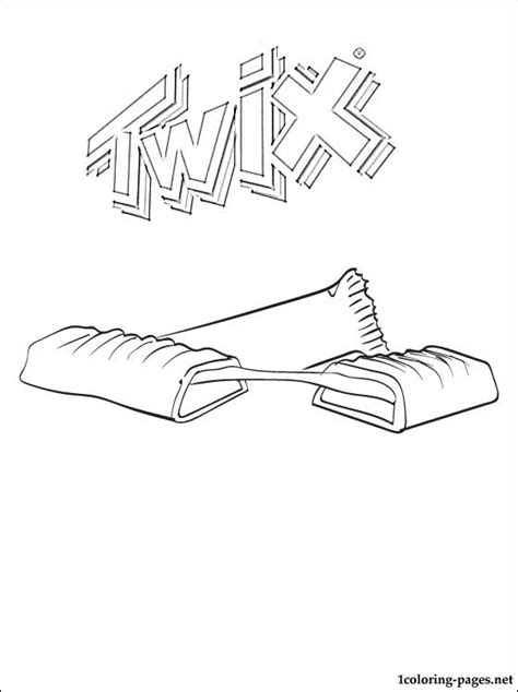 Kleurplaat Chocolade by Twix Coloring Page Coloring Pages