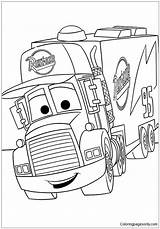 Cars Disney Mack Coloring Adults Coloringpagesonly sketch template