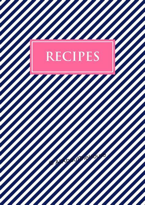recipe binder printables editable recipe sheet recipe card