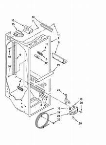 Refrigerator Liner Parts Diagram  U0026 Parts List For Model