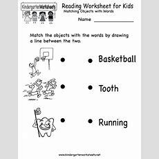 Kindergarten Reading Worksheet For Kids Printable  Worksheets (legacy)  English Worksheets For
