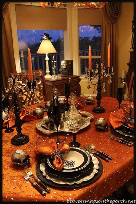 halloween tablescape elegant eerie