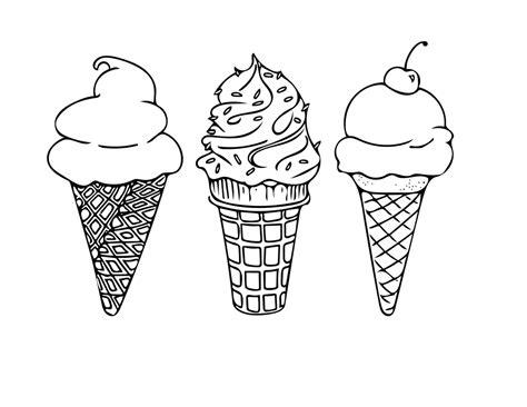 ice cream cones coloring page disney coloring pages