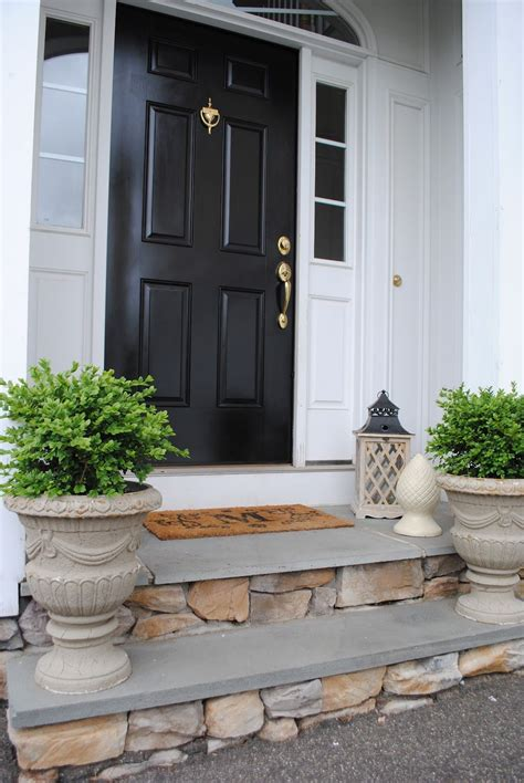 the house entrance door steps indian style inspiration black door and veneer steps porch front door maison style americain
