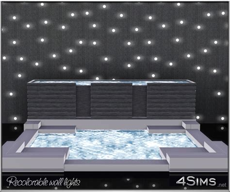 wall lights for the sims 3 wall led lights 2 styles colored and recolorable 4 sims