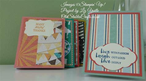 Stampin Up Tutorials #82  Craft Fair Notebooks Youtube