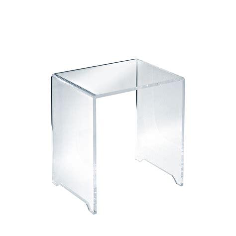 sgabello per doccia sgabello in plexiglass trasparente 40h cm per zona doccia