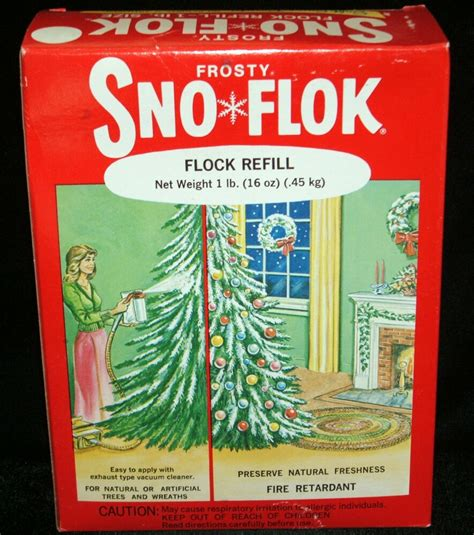 where to buy tree flocking frosty sno flok tree snow flocking 1lb refill box flock spray on vtg ebay