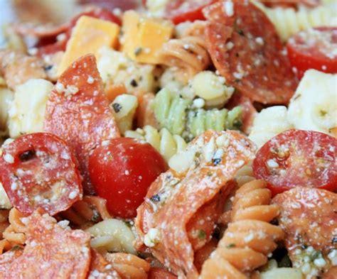 recette facile de salade de p 226 tes 224 la pizza