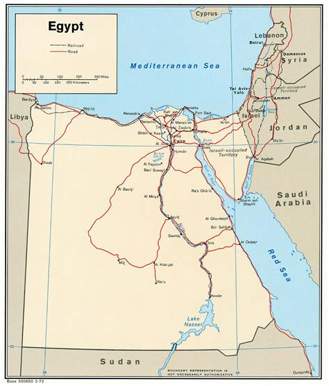 Egypt Political Map 1972 Political Map Of Egypt Of 1972