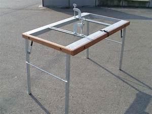 Table De Sciage : table de d coupe pour chantiers servante de d coupe jfm ~ Dode.kayakingforconservation.com Idées de Décoration