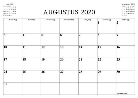 gratis afdrukbare lege maandelijkse kalender en planner