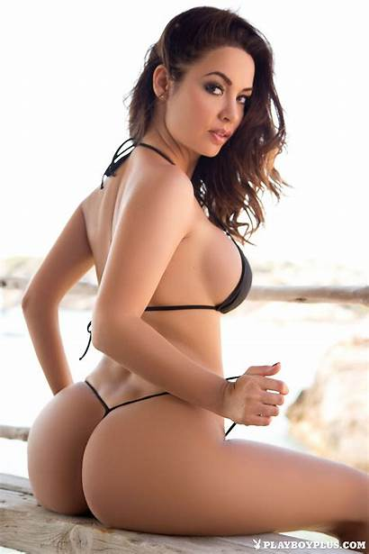 Hair Brown Levai String Playboy Bikini Brunette