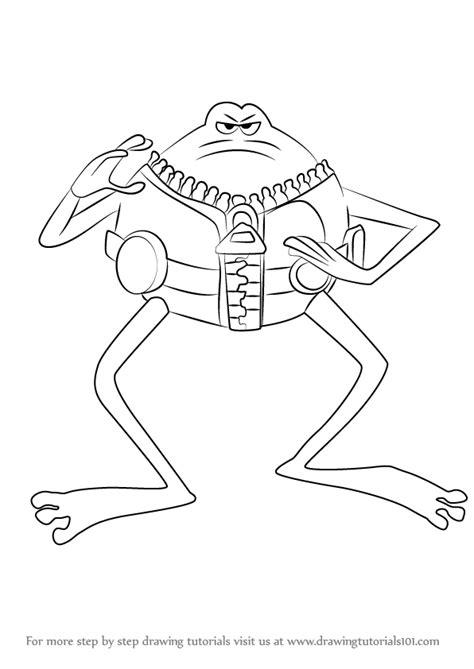 step  step   draw le frog  flushed  drawingtutorialscom