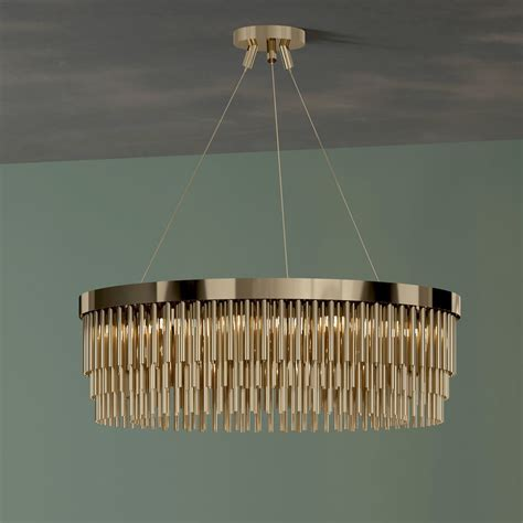 Contemporary White Chandelier by Gold Plated Designer Contemporary Chandelier