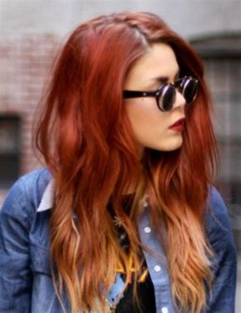 Hair Color Trends For 2019 Red Ombre Hairstyles Tresses