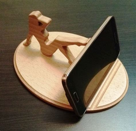 wooden phone holder lady wooden phone stand