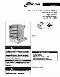 Mode D U0026 39 Emploi Modine Manufacturing 6-558 6