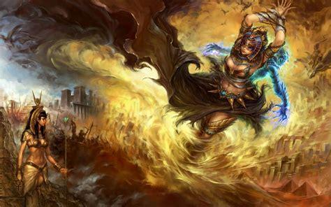 Egypt Fantasy Art Artwork Forsaken World Anime Girls